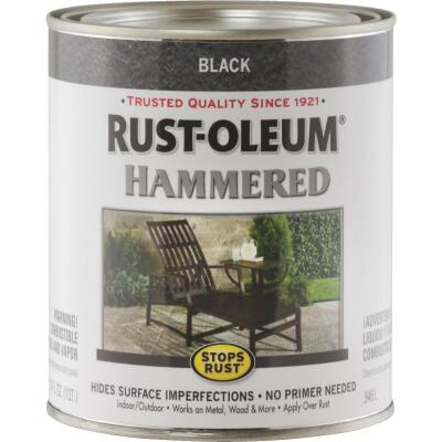 Rust-Oleum Stops Rust Hammered Paint, Black, 1 Qt.