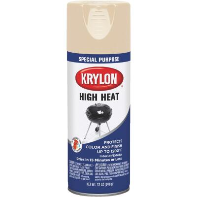 Krylon Flat Beige 12 Oz. High Heat Spray Paint