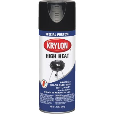 Krylon Flat Black 12 Oz. High Heat Spray Paint