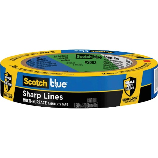 3M Scotch Blue 0.94 In. x 45 Yd. Sharp Lines Painter's Tape