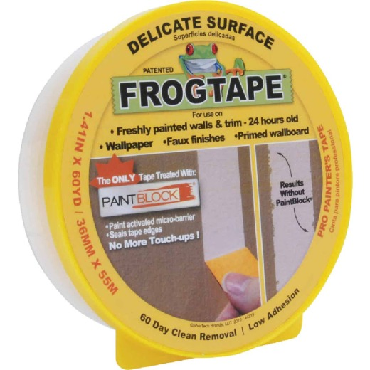 FrogTape 1.41 In. x 60 Yd, Delicate Surface Masking Tape
