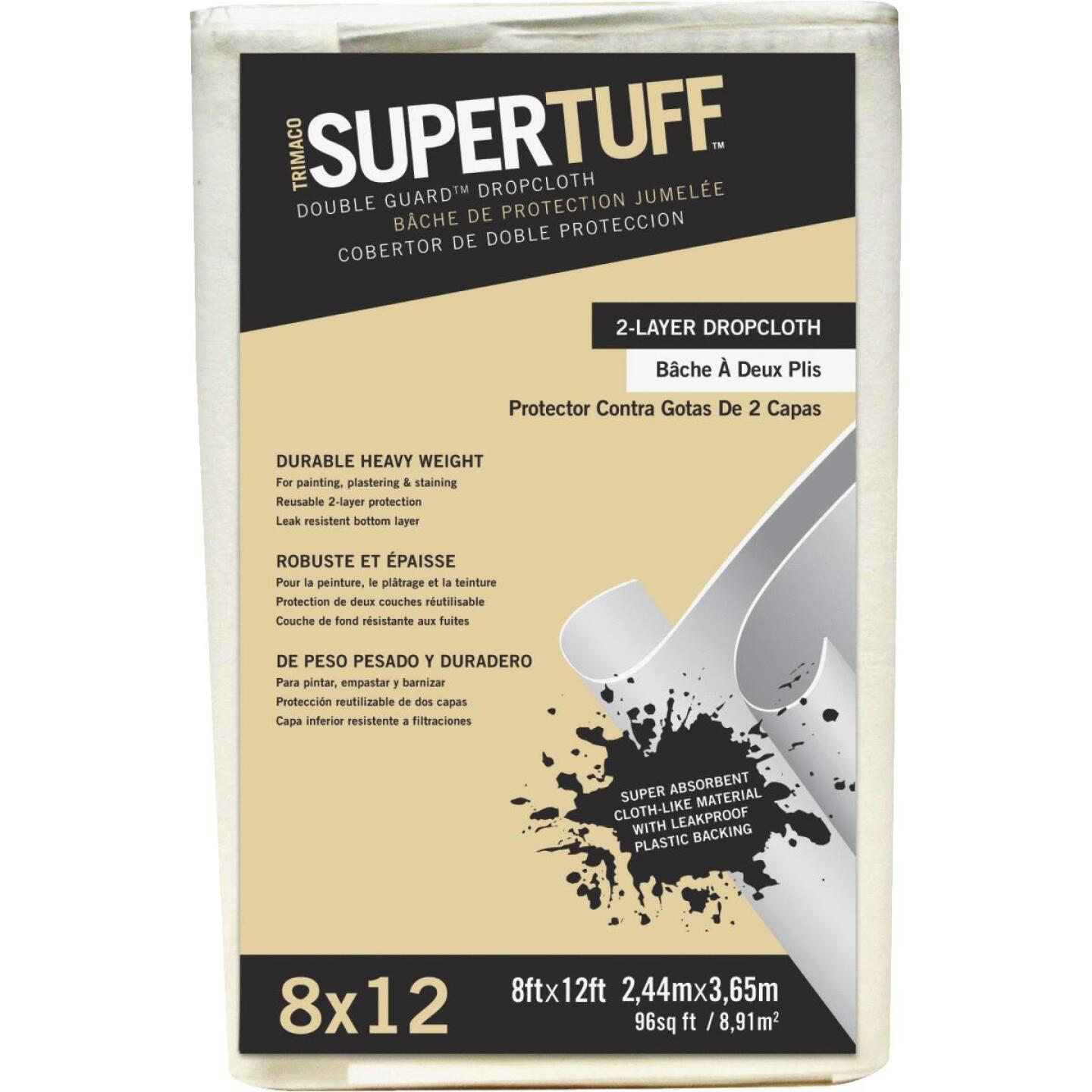 Trimaco SuperTuff 8 Ft. x 12 Ft. Double Guard Drop Cloth Image 1