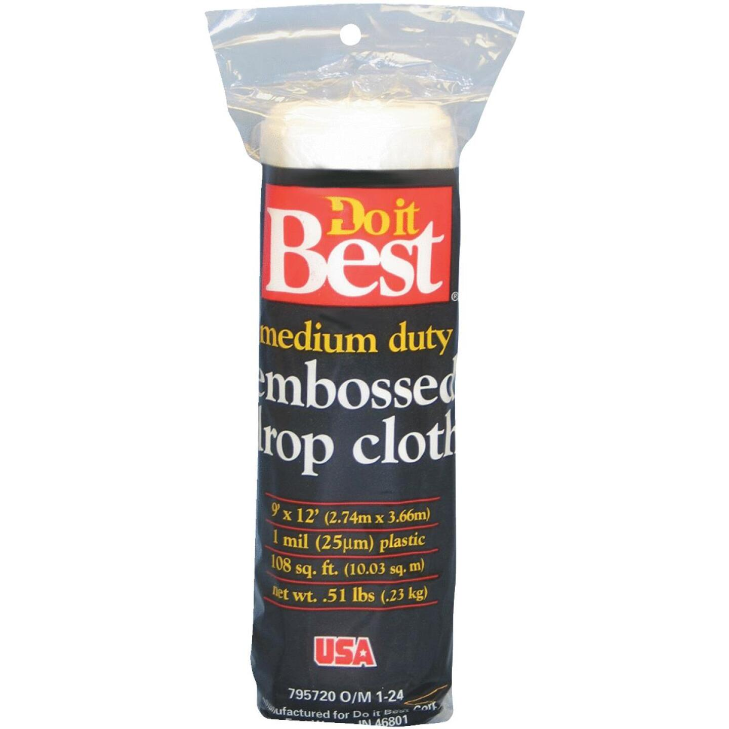 Do it Best Embossed Plastic 9 Ft. x 12 Ft. 1 mil Drop Cloth Image 1