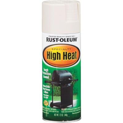 Rust-Oleum White Satin 12 Oz. High Heat Spray Paint