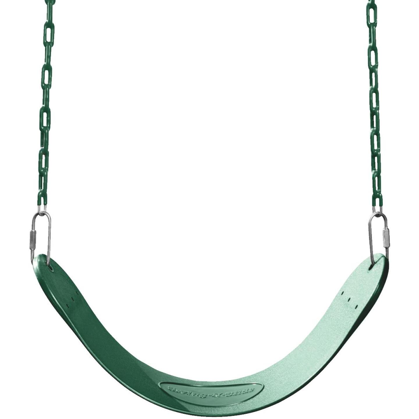 Swing N Slide Curved Oval Green Swing Seat Image 1