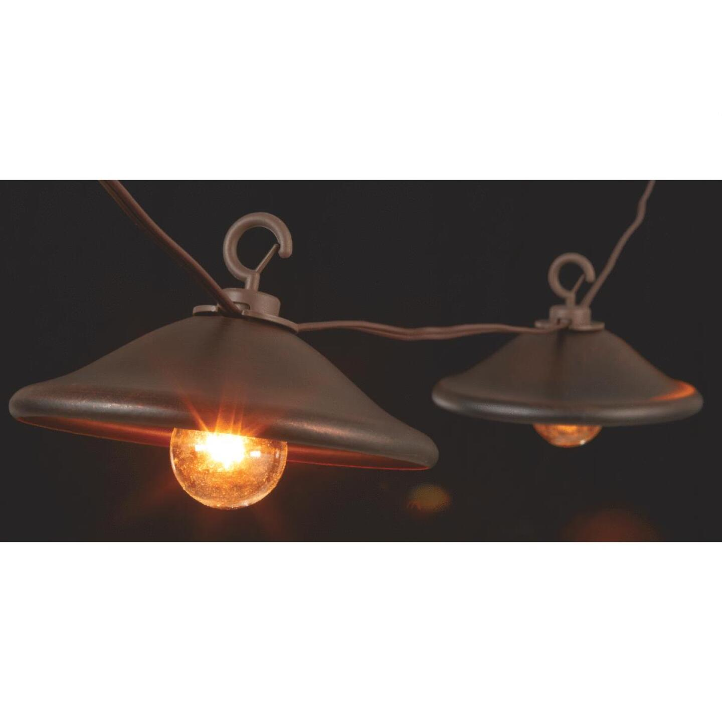 Gerson 10 Ft. 10-Light Clear Bronze Cover String Lights Image 1