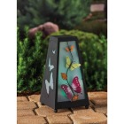 Garden Meadow 11 In. H. x 6 In. Dia. Metal LED Solar Lantern Image 2