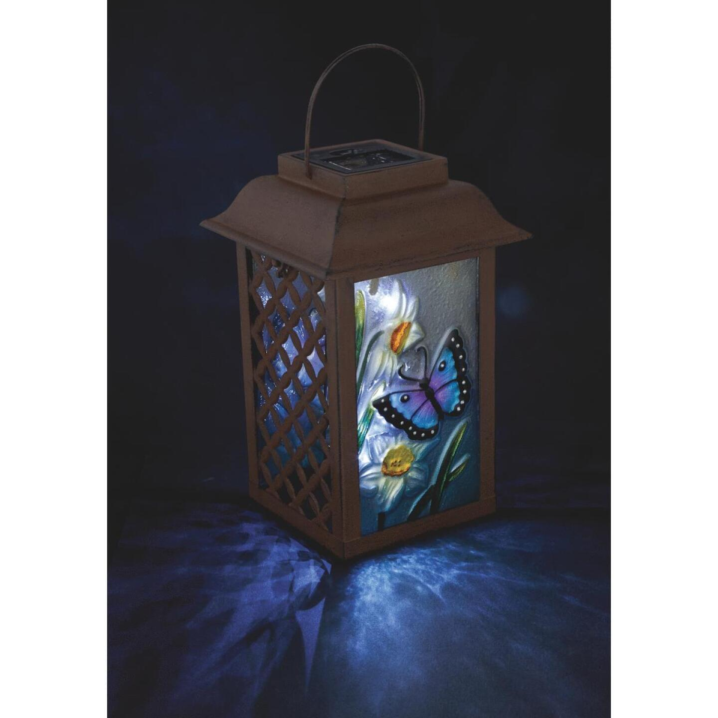 Outdoor Expressions 6 In. W. x 9.5 In. H. x 6 In. D. Solar Patio Latern Image 3