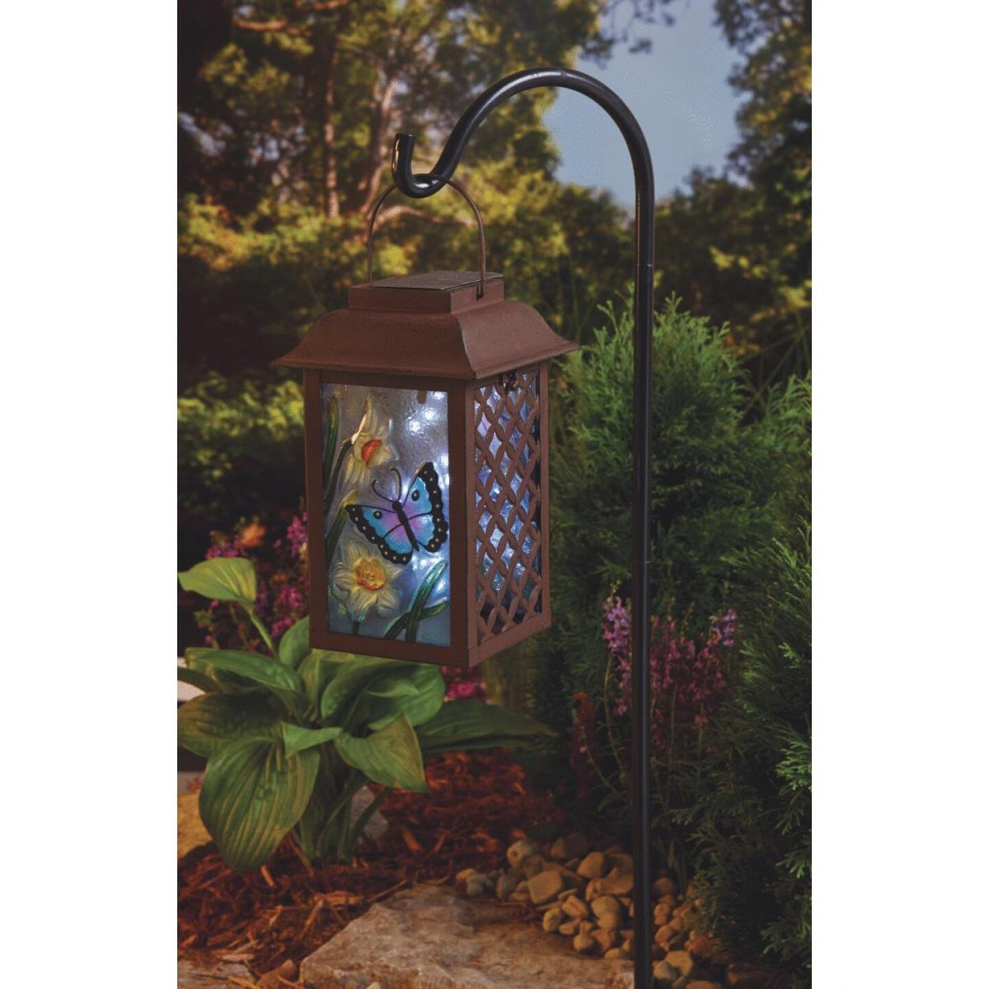 Outdoor Expressions 6 In. W. x 9.5 In. H. x 6 In. D. Solar Patio Latern Image 5