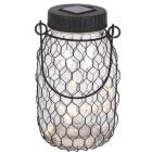 Gerson Everlasting Glow 6.9 In. H. x 2.75 In. Dia. Black Top Mason Jar LED Solar Lantern Image 3
