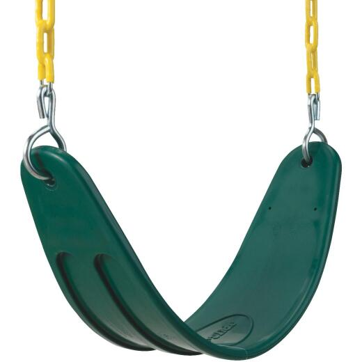 Swing N Slide Extra-Duty Belted Green Seat Swing