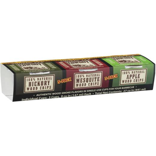 Cowboy Hickory, Apple, Mesquite Smoking Chunks Cup (3-Pack)