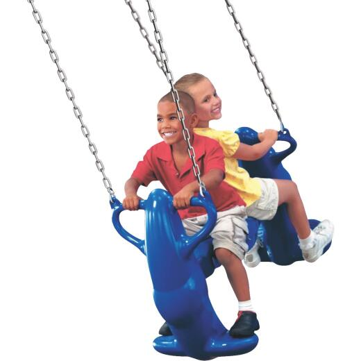 Swing N Slide Mega Rider Blue 2-Seat Glider Swing