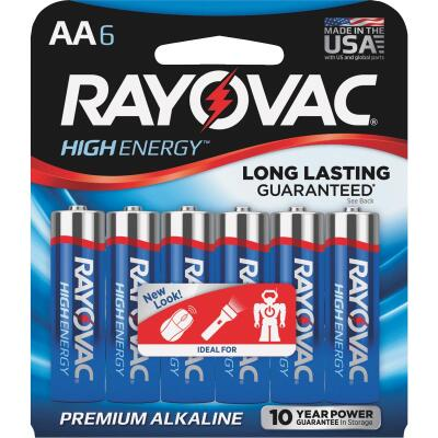 Rayovac High Energy AA Alkaline Battery (6-Pack)