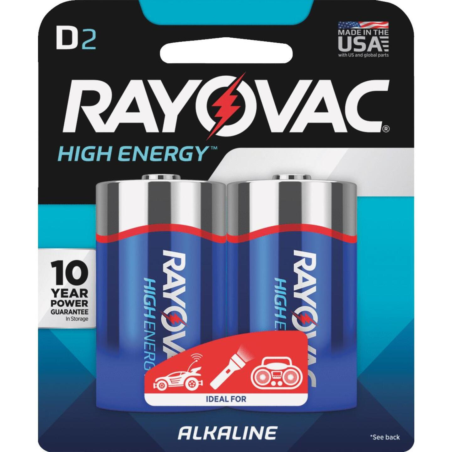 Rayovac High Energy D Alkaline Battery (2-Pack) Image 1