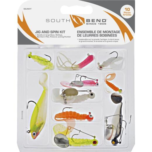SouthBend 10-Piece Jig & Spin Fishing Lure Kit