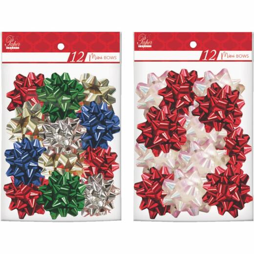 Paper Images Mini Metallic Gift Bow (12-Pack)