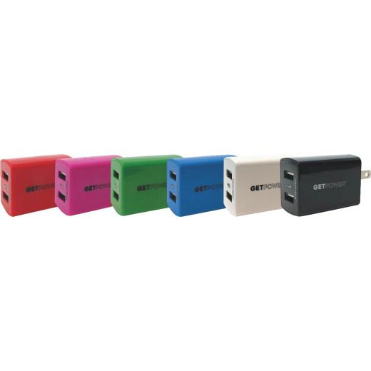 GetPower Dual USB Wall Charger