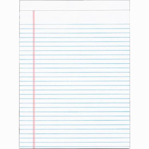 Staples 8-1/2 In. W. x 11 In. H. 50-Sheet White Top Bound Legal Pad (12-Pack)