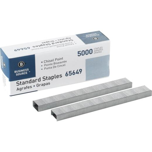 Business Source Standard Chisel Point Staple (5000-Pack)