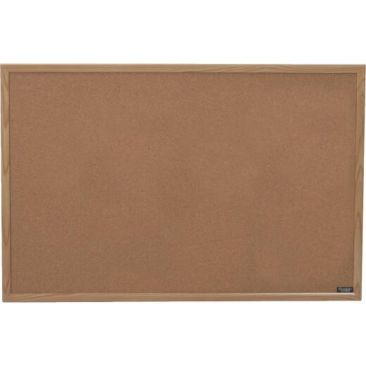 The Board Dudes 35 In. x 23 In. Cork Bulletin Board